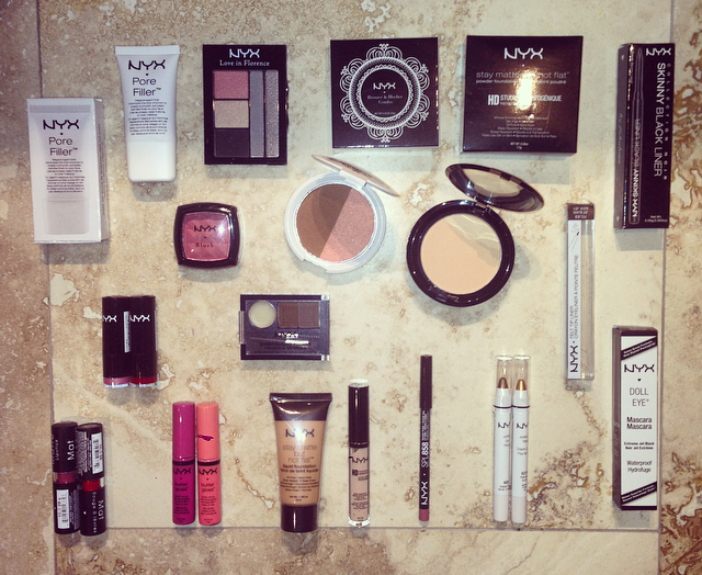 NYX Cosmetics Ireland – Check out my huge supply of NYX cosmetics