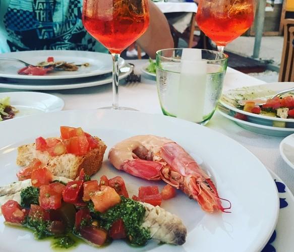 Italian Antipasto Platter on the Adriatic Coast